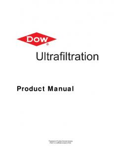 Ultrafiltration Product Manual - The Dow Chemical Company