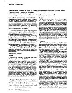 Ultrafiltration Studies in Vitro of Serum Aluminum ... - Clinical Chemistry