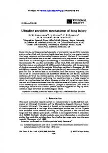 Ultrafine particles: mechanisms of lung injury