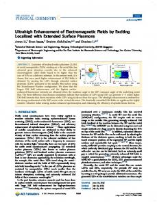 Ultrahigh Enhancement of Electromagnetic Fields ... - ACS Publications