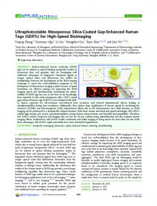 Ultraphotostable Mesoporous Silica-Coated Gap ... - ACS Publications