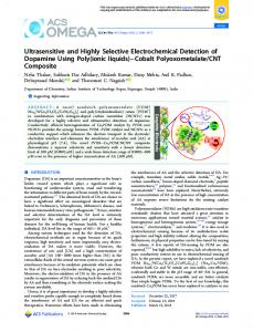 Ultrasensitive and Highly Selective ... - ACS Publications
