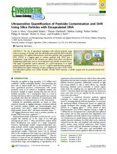 Ultrasensitive Quantification of Pesticide ... - ACS Publications