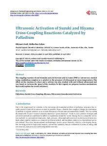 Ultrasonic Activation of Suzuki and Hiyama Cross-Coupling Reactions ...