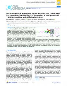 Ultrasonic-Assisted Preparation, Characterization ... - ACS Publications