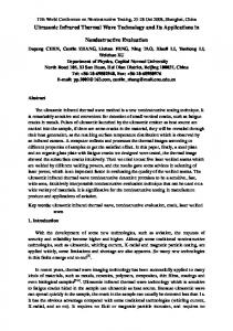 Ultrasonic Infrared Thermal Wave Technology and its ... - CiteSeerX
