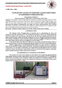 ultrasonic study in ternary liquid mixtures at different
