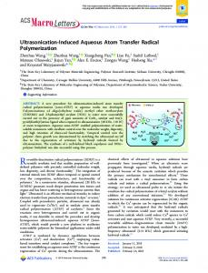 Ultrasonication-Induced Aqueous Atom Transfer Radical Polymerization