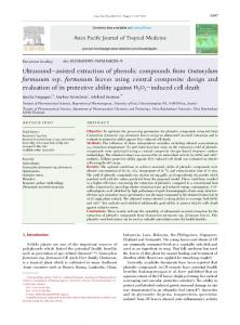 Ultrasound-assisted extraction of phenolic ...