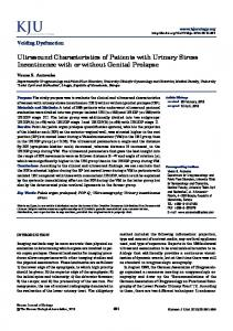 Ultrasound Characteristics of Patients with ... - KoreaMed Synapse