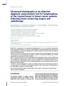 Ultrasound elastography as an objective diagnostic ... - BioMedSearch