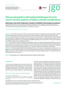 Ultrasound guided conformal brachytherapy of