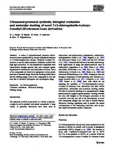 Ultrasound-promoted synthesis, biological evaluation and molecular ...