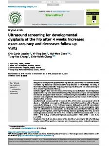 Ultrasound screening for developmental dysplasia of the hip after 4