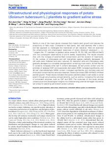 Ultrastructural and physiological responses of potato (Solanum ...
