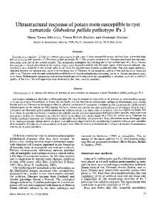 Ultrastructural response of potato roots susceptible to cyst nematode ...
