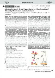 Ultrathin Covalently Bound Organic Layers on ... - Wiley Online Library