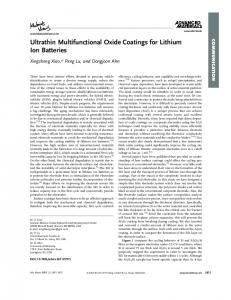 Ultrathin Multifunctional Oxide Coatings for ... - Wiley Online Library