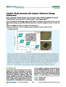 Ultrathin TiO2(B) Nanorods with Superior Lithium-Ion Storage ...