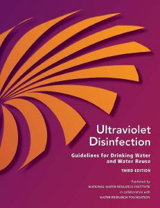 Ultraviolet Disinfection Guidelines for Drinking Water and Water Reuse