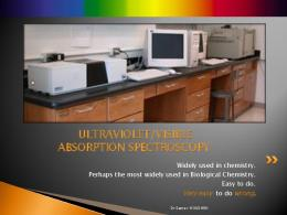 ultraviolet/visible absorption spectroscopy