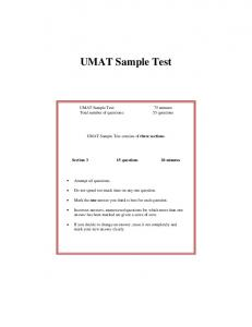 UMAT Sample Test - Prepgenie.com.au