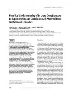 Umbilical Cord Monitoring of In Utero Drug Exposure to ...