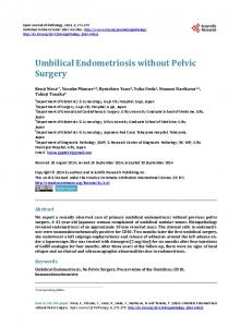 Umbilical Endometriosis without Pelvic Surgery