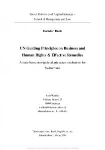 UN Guiding Principles on Business and Human Rights ... - SSRN papers