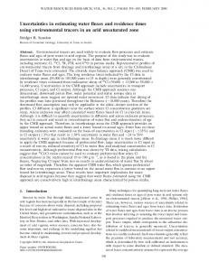 Uncertainties in estimating water fluxes and residence times using ...