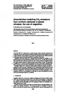 Uncertainties modelling CH emissions from ... - Semantic Scholar