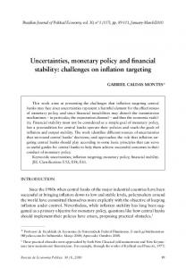 uncertainties, monetary policy and financial stability ... - SciELO