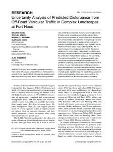 Uncertainty Analysis of Predicted Disturbance from Off-Road Vehicular ...