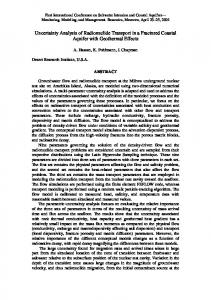 Uncertainty analysis of radionuclide transport in a fractured coastal ...