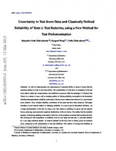 Uncertainty in Test Score Data and Classically Defined ... - arXiv