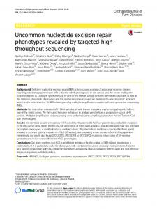 Uncommon nucleotide excision repair phenotypes revealed by ...