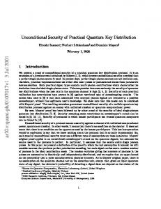 Unconditional Security of Practical Quantum Key Distribution