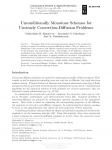 Unconditionally Monotone Schemes for Unsteady ...
