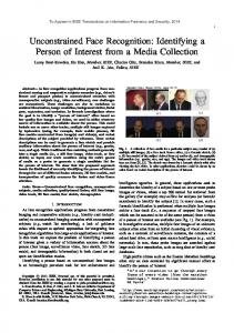 Unconstrained Face Recognition - Biometrics Research Group