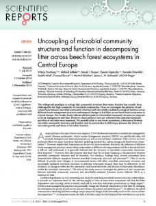 Uncoupling of microbial community structure and function in ... - Nature