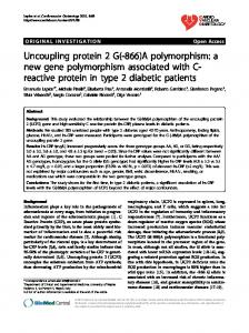 Uncoupling protein 2 G(-866)A polymorphism