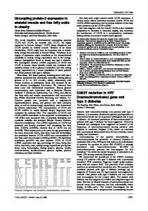 Uncoupling protein-3 expression in skeletal muscle and ... - The Lancet