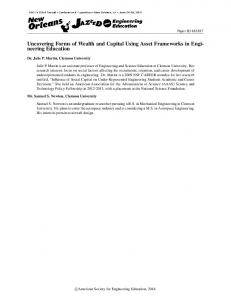 Uncovering Forms of Wealth and Capital Using Asset ... - Asee peer