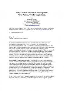 Under Capitalism - Journal of World-Systems Research