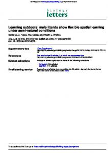 under semi-natural conditions Learning outdoors ... - PublicationsList.org