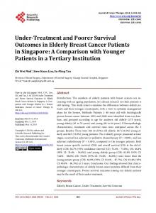 Under-Treatment and Poorer Survival Outcomes in Elderly Breast ...