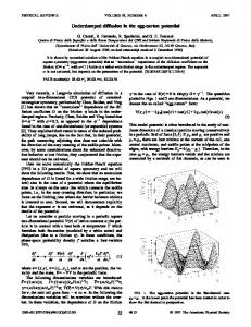 Underdamped diffusion in the egg-carton potential - Physical Review ...