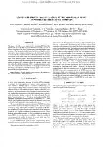 Underdetermined DOA estimation by the non