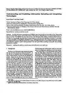 Understanding and Exploiting Information Spreading ... - Springer Link