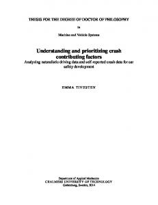 Understanding and prioritizing crash contributing factors - Chalmers ...